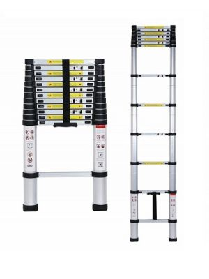 12.5 Portable and extension Aluminium Telescopic Ladder for home and industrial use